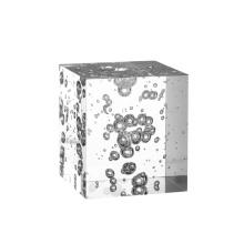 Luxury artistical bubble sublimation blank acrylic crystal block