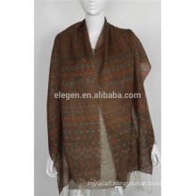 mercerized wool Chevron Print scarf