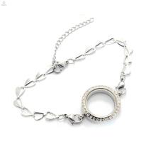 Nouvelle arrivée en acier inoxydable papillon chaîne esclave bracelet bijoux, bracelet avec pendentif médaillon