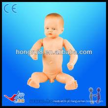HR / FT4 Bebé recém-nascido completo a termo (bebê, bebé opcional), manequim bebê