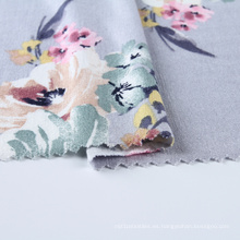 Rayon Gray Jersey impreso tejido de punto para el vestido