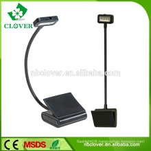 Black 3 LED extra-long flexible arm clamp led reading lamp for bed