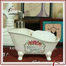 China Fábrica de cerámica de porcelana bomba de loción dispensador de jabón líquido dispensador