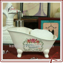 China Factory Ceramic Porcelain Pump Lotion Dispenser Liquid Soap Dispenser