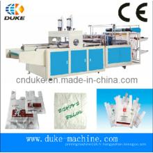 Machine à fabriquer des sacs à t-shirt automatique à coupe chaude (DFHQ-450X2)