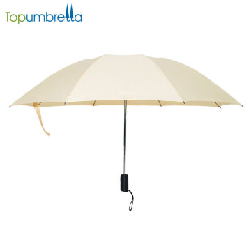 New Products Customize Pongee Fabric Auto Open Close Inverted Reverse Folding Umbrella
