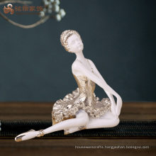 Factory custom home decoration handmade resin ballerina crafts