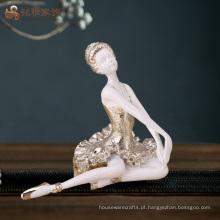 Fábrica artesanato personalizado artesanato de bailarina de resina artesanal