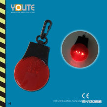 LED Hard Reflective Keychain with CE En13356