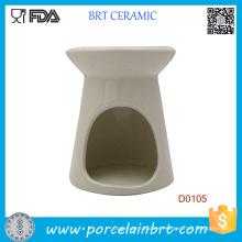 Nuevo quemador de aceite de fragancia de cerámica esencial blanco