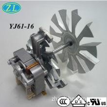 C-frame 25mm air fryer motor with three legs bracket and fan blades