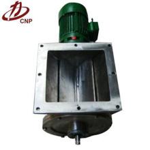 Válvula de descarga quadrada pneumática rotativa industrial
