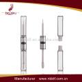 China tubo de rímel popular nuevo diseño tubo delgado ronda botella de rímel doble tubo cosmético