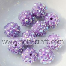 Hot Purple AB Festharz Strass Perlen für DIY Armbänder 10 * 12MM