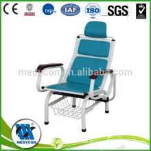 Durable medical hospital patient transfusion chair