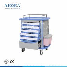 AG-MT001A1 CE ISO fünf Schubladen Krankenhaus Notfall mobile Medizin Wagen
