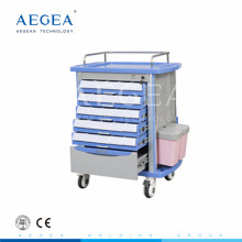 AG-MT001A1 High quality abs simple flexible emergency medical first aid trolley