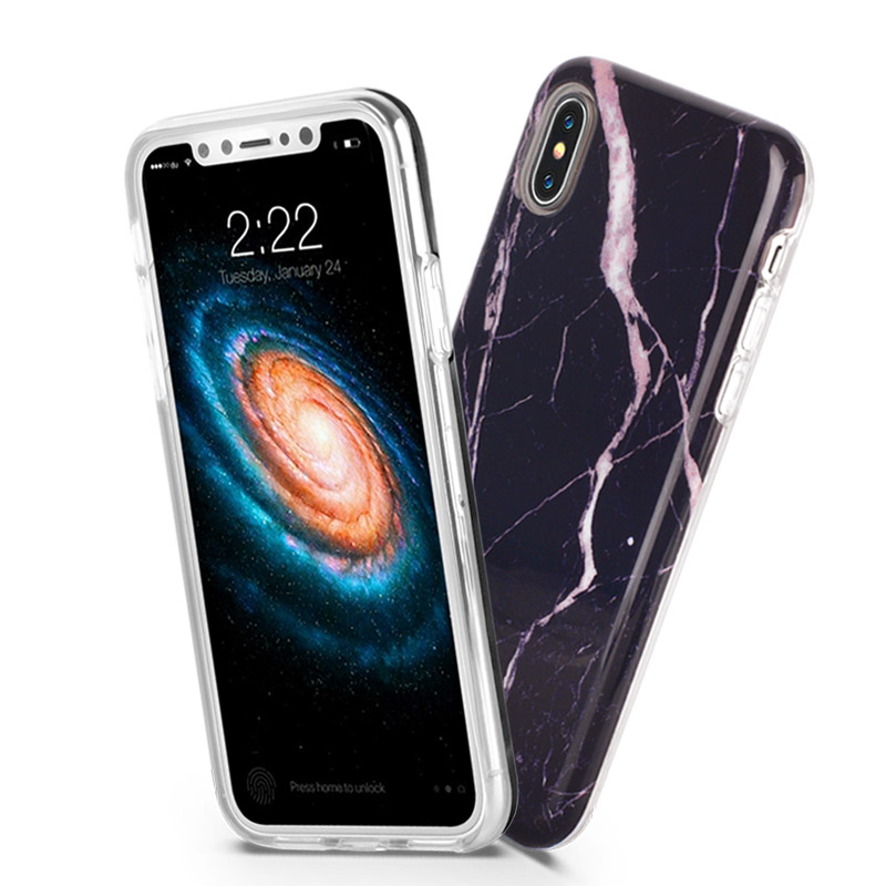 Marble Iphone x Cover Case