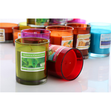 Bougies d'étain parfumées pour la décoration intérieure et la fête votive