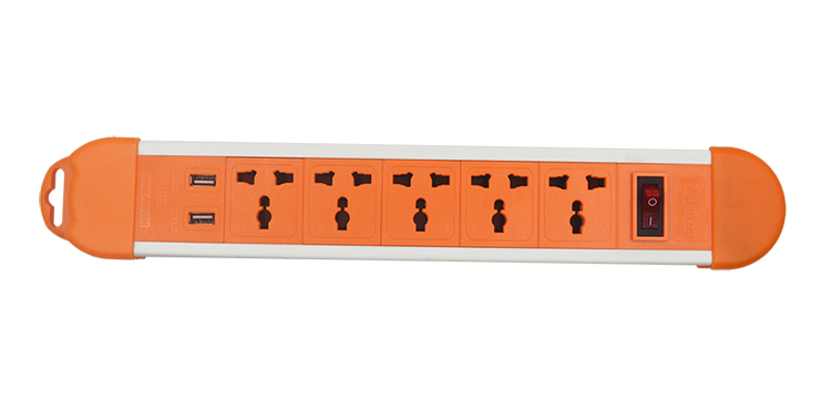 5 Way Extension Socket USB Charger