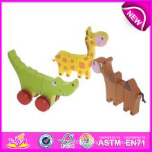 Juego de animales de zoológico de madera Juguete para niños, Juguete de juguete de madera para niños, Juguete de rol Juguete de madera para bebé W05b072