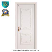 Porte HDF Style européen simplifié pour l'intérieur avec sculpture (ds-052)