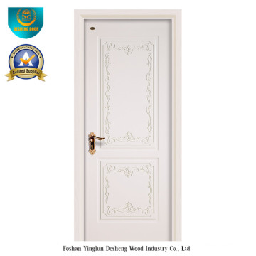 Simplified European Style HDF Door for Interior with Carving (ds-052)