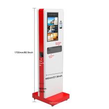 Face Recognition Temperature Measuremen and Automatic Hand Sanitizer Print Label Kiosk