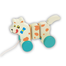 Горячая Распродажа милый тянуть собака деревянные игрушки для младенцев и детей