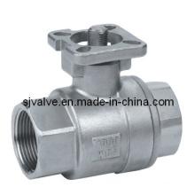 Нержавеющая сталь 316 2шт шаровой клапан с ISO 5211 (valvula)