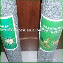 Hot dipped Galvanized 41mm hexagonal wire netting for Rabbit