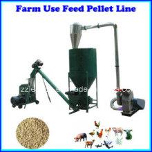 500kg / H Linha de produção de alimentos para aves de pequeno porte / Linha de produção de rações para animais