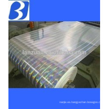 Packing material laser holographic film