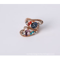 Flowr Shape Design Fashion Jewelry Ring with Rhinestone