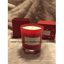 Velas perfumadas románticas fijadas como regalo de boda