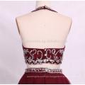Impresionante muestra real rebordeado dos piezas de bola vestido Tulle vestidos de baile