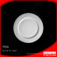 venta por mayor nuevos productos vajilla hotel postre plato de porcelana