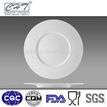 Big round cheap white porcelain dessert plate