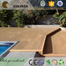Swimming pool waterproof wood plastic composite artificial decking