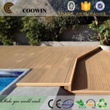 Piscina de plástico impermeável madeira composto decking artificial