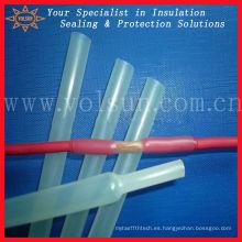 Tubo termocontraíble impermeable transparente del conducto