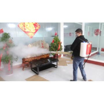 Desinfektion der Nebelmaschine für Rucksäcke auf Coronavirus