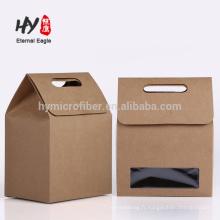 Usine nouveau sac de papier cadeau design avec fenêtre en pvc
