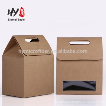 Nueva bolsa de regalo de papel de diseño de fábrica con ventana de pvc