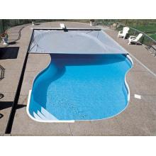 Tampas exteriores da piscina do vinil