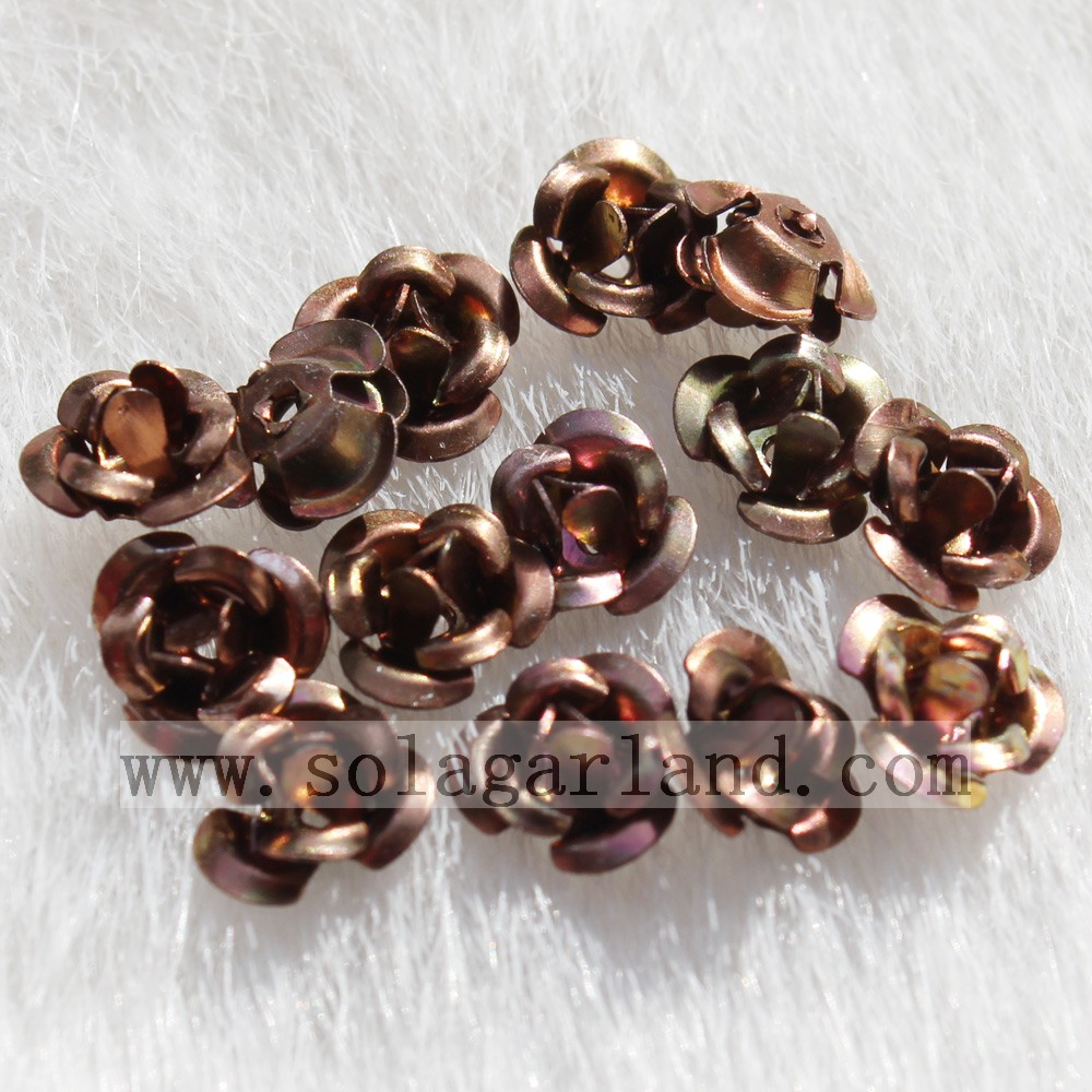 Aluminum Rose Flower Beads