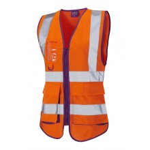 orange mesh vest with yellow reflective PVC