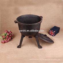 Horno holandés de hierro fundido respetuoso del medio ambiente para la cocina casera y el acampar