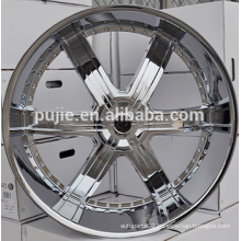 24x10 deep dish chrome alloy wheels