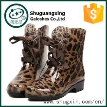 gomme de pluie bottes dames fantaisie plat chaussures de pluie